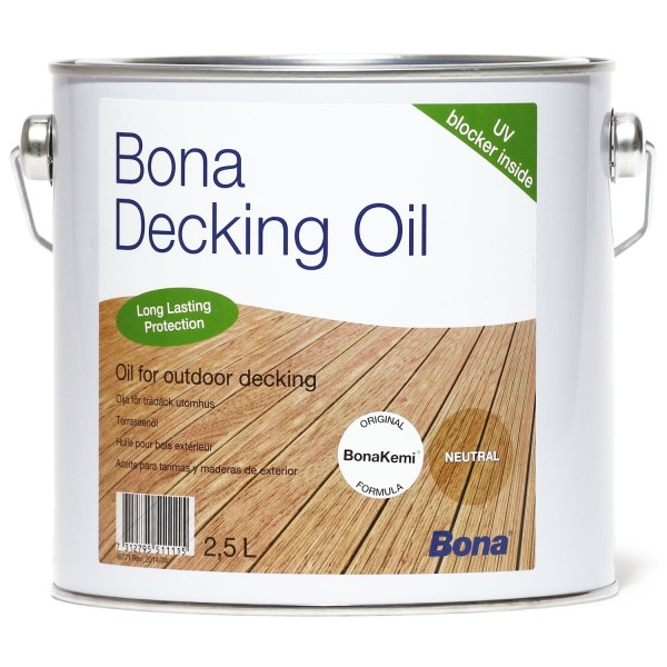 Decking Oil Neutral 2,5 Liter